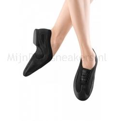 Jazzschoenen van leer en gaas - Klittenband - Suède splitzool - Bloch Slipstream Slip On